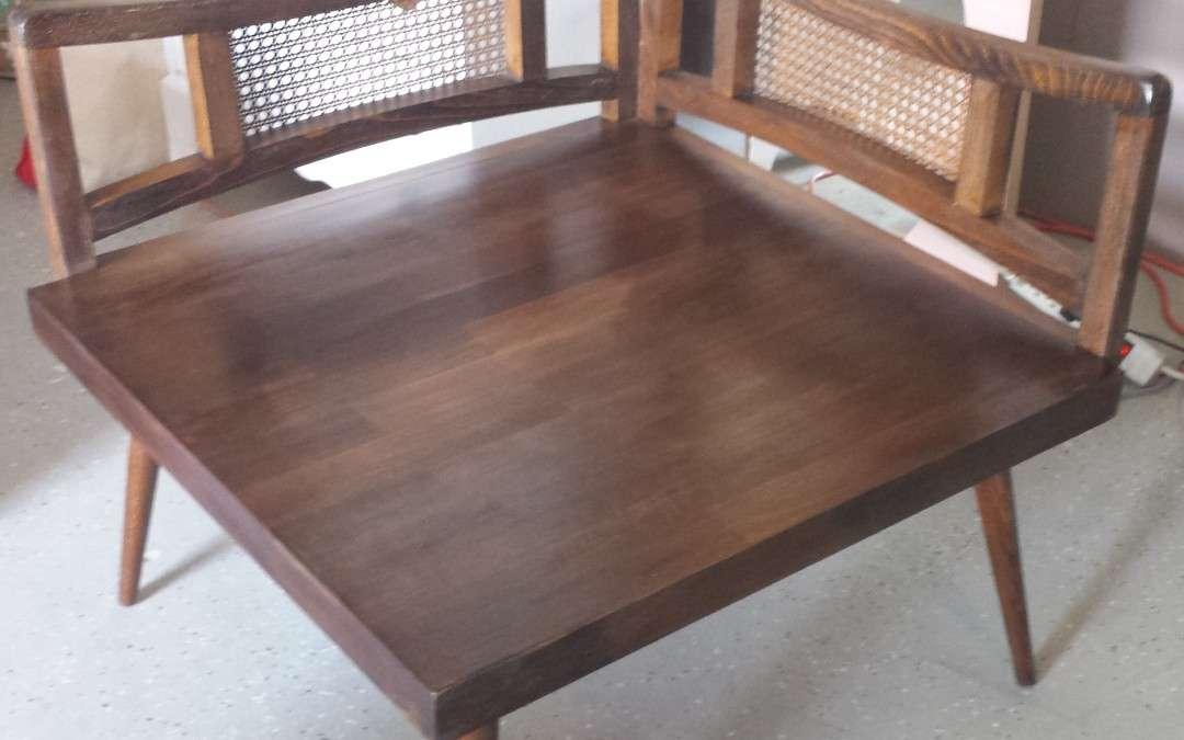 Mid Century Corner Side Table