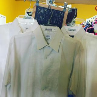Found these tux shirts in the back room bargain area. $1 each! Let's see what you can find!! #zabsstealz