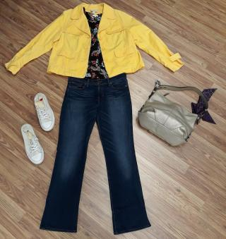A new #ZABSStyle outfit from ZABS Talent Daniella!  Shirt - Pleione, Size: M Pants - Lucky Brand, Size: 6 Shoes - CONVERSE, Size: 8 Purse - Coach Jacket - LOFT, Size 12  Get the look:  Retail: $620 #ZABSSteal Price: $128!