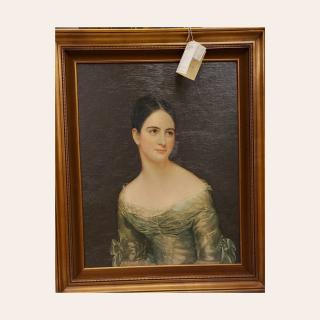 """Hand-finished master reproduction of """"Miss Pearce"""" by Thomas Sully.  1979 - excellent condition #ZABSstealz  #zabsplace #matthewsnc #charlottenc #thriftstorefinds #thrift #art"""