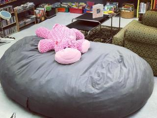 GIANT BEAN BAG CHAIR....great for a rec room or sensory room!! #ZABSsteal $50!! We are open today 10-6😉