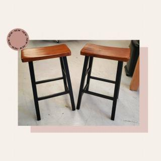 We've got a lot of nice furniture coming in! Check out this set of wood barstools for $20!  #Zabsplace #MatthewsNC #CharlotteNC #thriftstore #Thrift #Thriftstorefinds #zabsstealz #barstools #woodfurniture